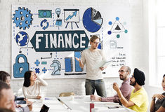 Finance Financial Economy Budget Bookkeeping Concept Stock Photography