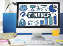 Finance Financial Economy Budget Bookkeeping Concept Royalty Free Stock Photography