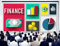 Finance Financial Investment Banking Exchange Concept Royalty Free Stock Image