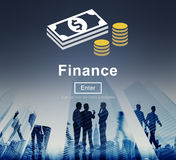 Finance Financial Money Cash Economics Concept stock illustration