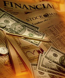 Finance - Financial Papers and Money Royalty Free Stock Images