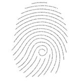 Finance Fingerprint Royalty Free Stock Photos