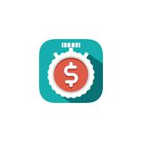Finance flat icon. Beautiful flat vector finance icon Royalty Free Stock Image