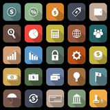 Finance flat icons with long shadow Royalty Free Stock Photo