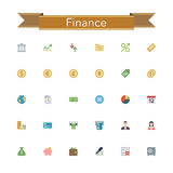 Finance Flat Icons Royalty Free Stock Images