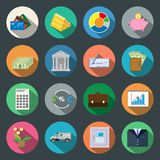 Finance flat icons set Stock Photo