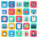 Finance flat icons set Stock Photos