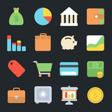 Finance Flat Icons. For web and mobile apps Royalty Free Stock Image
