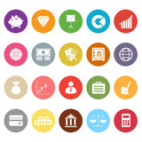Finance flat icons on white background Stock Images