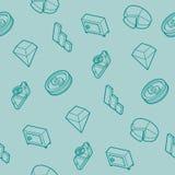 Finance flat outline isometric pattern. Vector illustration, EPS 10 Stock Image