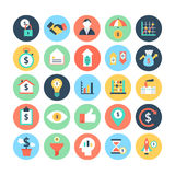 Finance Flat Vector Icons 5 Stock Photo