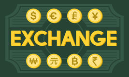 Finance Foreign Exchange Money Symbol Concept.  Stock Photography