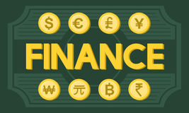 Finance Foreign Exchange Money Symbol Concept Royalty Free Stock Photos