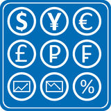 Finance and forex icons pack Royalty Free Stock Photo