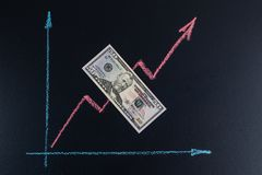 Finance and forex upward trend concept. royalty free stock photos