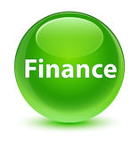 Finance glassy green round button. Finance isolated on glassy green round button abstract illustration Stock Photo