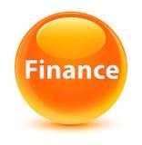 Finance glassy orange round button Stock Photography