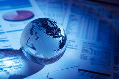 Finance. Global Business Global Communications Globe Investment Business Abstract Stock Photo