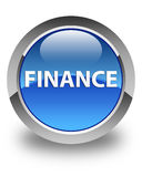 Finance glossy blue round button Stock Photography