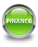 Finance glossy green round button Stock Photo