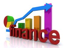 Finance graph Stock Image