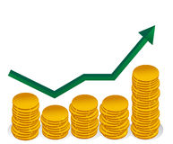Finance graph Royalty Free Stock Photos