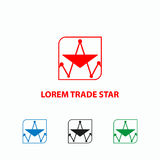 Finance graph icon. Trade schedule looks like a star. Logo template Stock Images