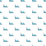 Finance graph pattern seamless. In flat style for any design Royalty Free Stock Photography