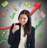 Finance growth businesswoman stock photography