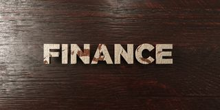 Finance - grungy wooden headline on Maple  - 3D rendered royalty free stock image Stock Photos