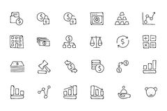 Finance Hand Drawn Doodle Icons 2. Need a little financial stability after all that Christmas gift giving? Make a design plan with your Hand Drawn Financial Stock Photo