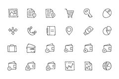 Finance Hand Drawn Doodle Icons 5 Stock Images