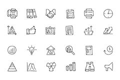 Finance Hand Drawn Doodle Icons 4. Need a little financial stability after all that Christmas gift giving? Make a design plan with your Hand Drawn Financial Royalty Free Stock Photos