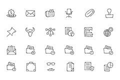 Finance Hand Drawn Doodle Icons 8 Stock Photos