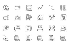 Finance Hand Drawn Doodle Icons 9. Need a little financial stability after all that Christmas gift giving? Make a design plan with your Hand Drawn Financial Royalty Free Stock Images