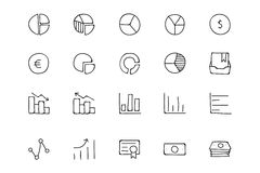 Finance Hand Drawn Doodle Icons 11. Need a little financial stability after all that Christmas gift giving? Make a design plan with your Hand Drawn Financial Royalty Free Stock Photos