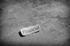 Finance headline Royalty Free Stock Images