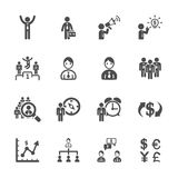 Finance and human resource icon set, vector eps10 Royalty Free Stock Photos