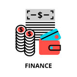 Finance icon, for graphic and web design. Modern flat editable line design vector illustration, finance icon, for graphic and web design Stock Image