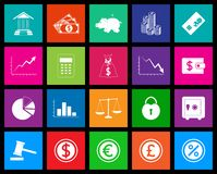 Finance icon series in Metro style Royalty Free Stock Image