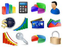 Finance Icon Set. Accounting and Finance Icon Set Royalty Free Stock Photo
