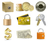 Finance Icon Set. Highly detailed  illustration Stock Image