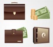 Finance Icon Set Stock Photos