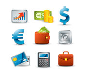 Finance icon set. On white Royalty Free Stock Images