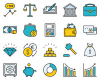 Finance Icon Set. The set contains 20 fully scalable  icons with outline style Royalty Free Stock Image