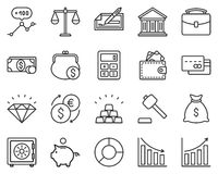 Finance Icon Set. The set contains 20 fully scalable vector icons with outline style Stock Image