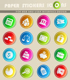 Finance icon set. Finance  icons for user interface design Royalty Free Stock Photography
