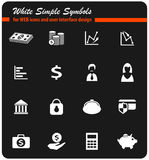Finance icon set. Finance  icons for user interface design Royalty Free Stock Image