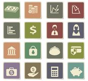 Finance icon set. Finance  icons for user interface design Royalty Free Stock Images