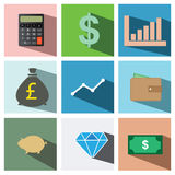 Finance icon set illustration eps10 Stock Photos